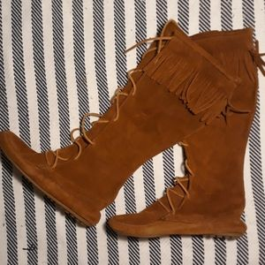 Rare Boho Minnetonka tall leather boots sz.9